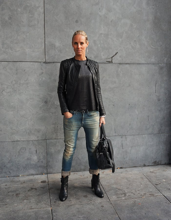 Rocking black & Jeans
