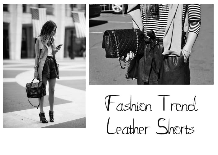 Fashion Trend | Leather shorts