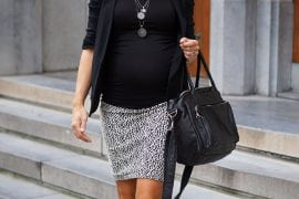 Picture bare legs, skirt and black blazer