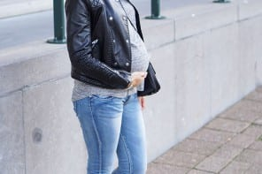 Outfit City Chic, skinny, biker boots and jacket