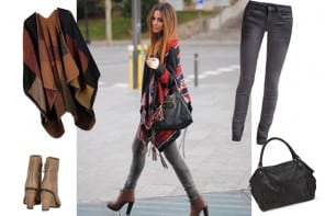 Styled by Chris | Inspiration look #1 | The Aztec poncho