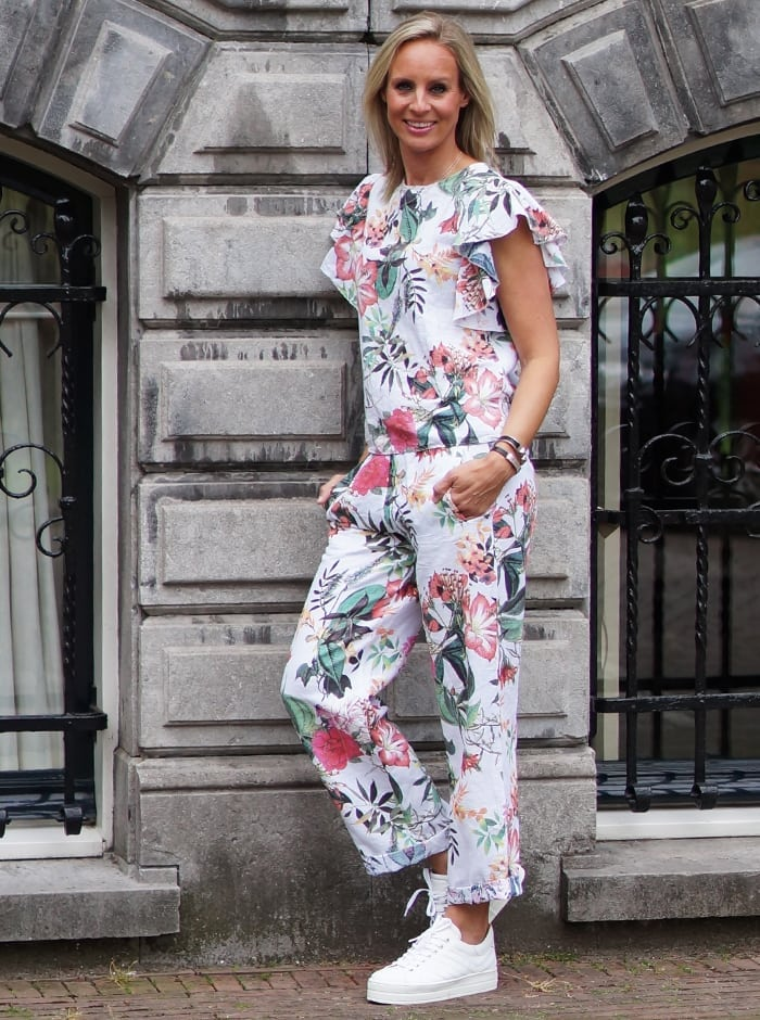 bloemen print outfit