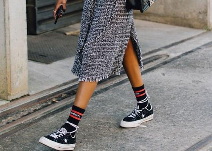 Old skool sokken in je sneakers
