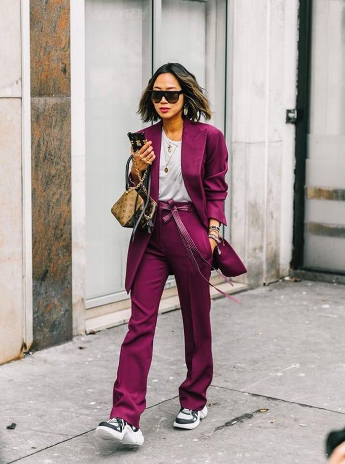 purple power suit